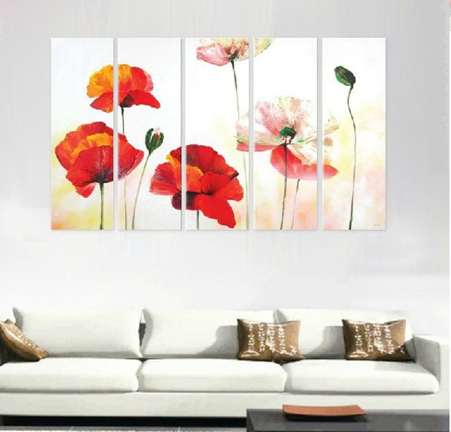 /176-201/hand-painted-flower-oil-painting-with-stretched-frame-set-of-5.jpg