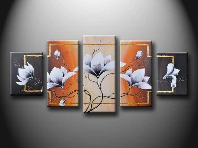 /179-204/flower-hand-painted-oil-painting-with-stretched-frame-set-of-5.jpg