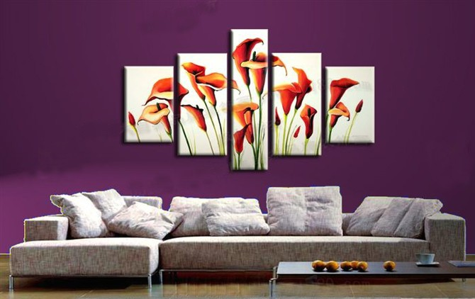 /184-210/hand-painted-flower-oil-painting-with-stretched-frame-set-of-5.jpg