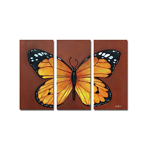 Hand-painted Animal Oil Painting with Stretched Frame - Set of 3