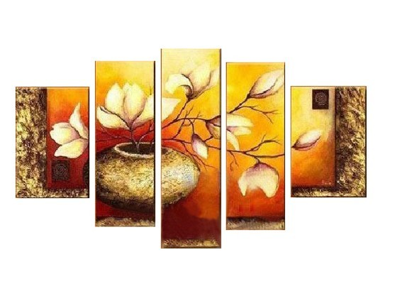 /191-218/hand-painted-flower-oil-painting-with-stretched-frame-set-of-5.jpg