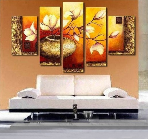 /191-219/hand-painted-flower-oil-painting-with-stretched-frame-set-of-5.jpg