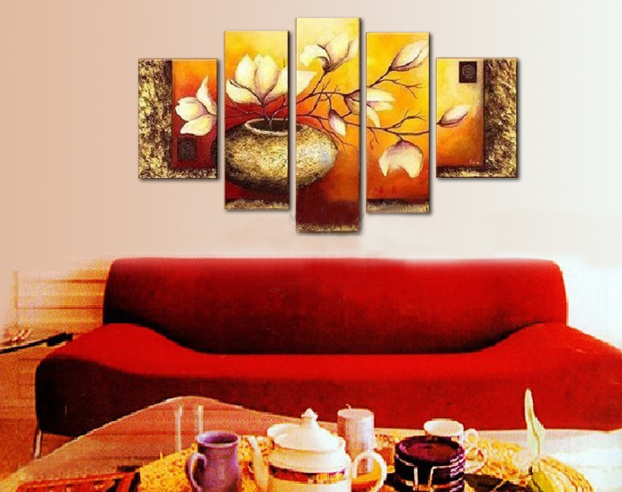 /191-221/hand-painted-flower-oil-painting-with-stretched-frame-set-of-5.jpg
