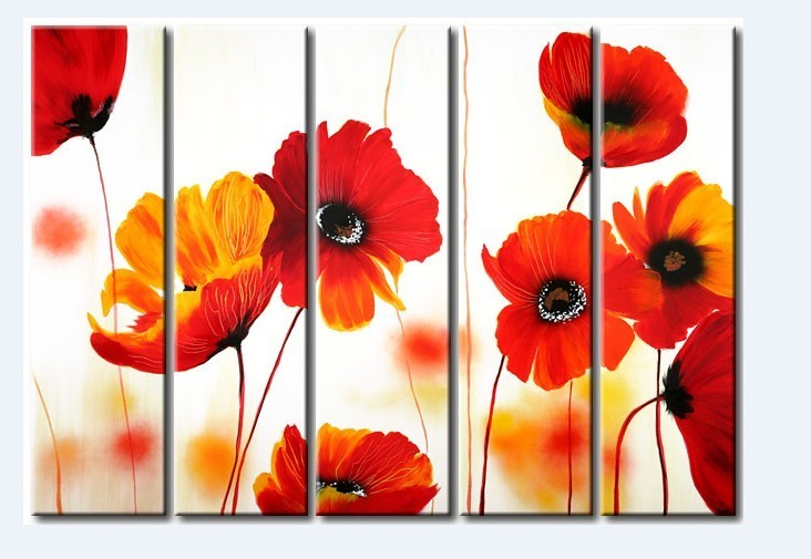 /192-222/hand-painted-flower-oil-painting-with-stretched-frame-set-of-5.jpg