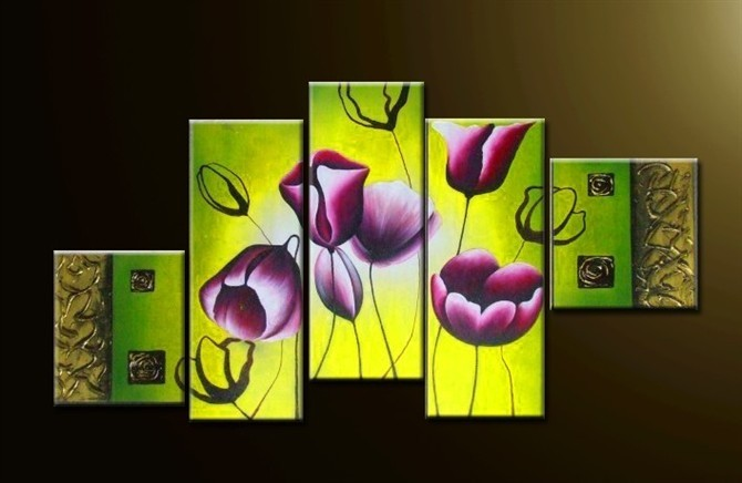 /193-223/hand-painted-flower-oil-painting-with-stretched-frame-set-of-5.jpg