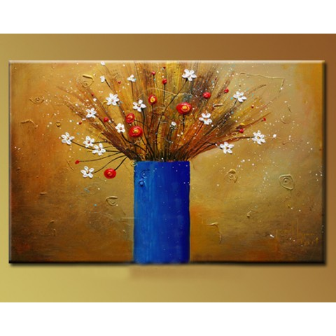 "Hand-painted Flower Oil Painting with Stretched Frame - 16"" x 20"""