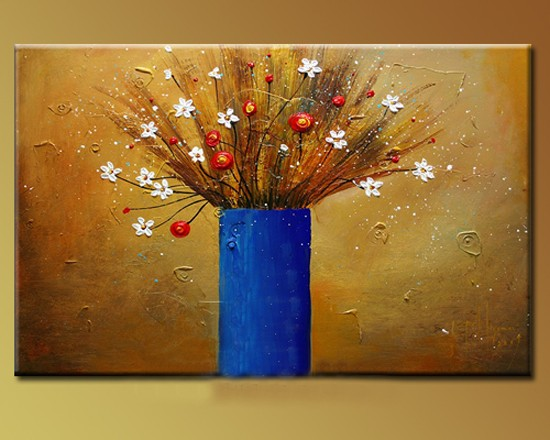 /205-235/hand-painted-flower-oil-painting-with-stretched-frame-16-x-20.jpg