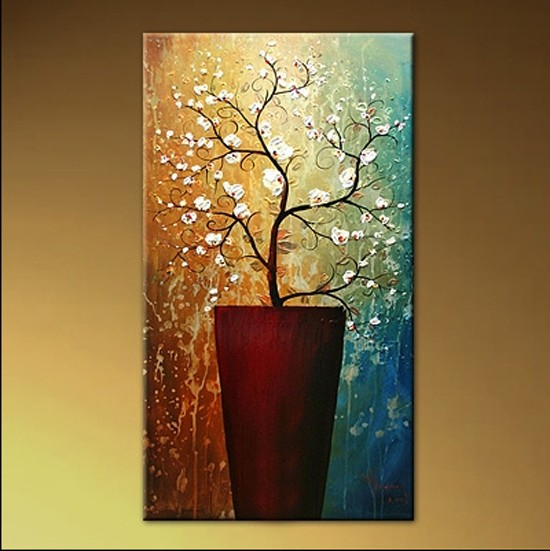 /207-237/hand-painted-flower-oil-painting-with-stretched-frame-14-x-28.jpg