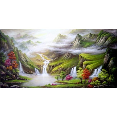 Landscape Hand-painted Oil Painting with Stretched Frame