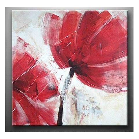 "Hand-painted Flower Oil Painting with Stretched Frame - 20"" x 20"""