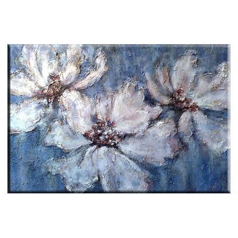 Hand-painted Flower Oil Painting with Stretched Frame