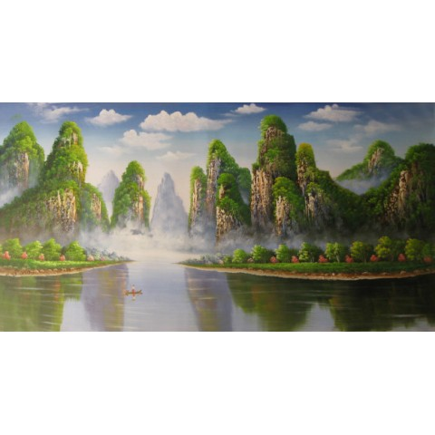 "Landscape Hand-painted Oil Painting with Stretched Frame - 40"" x 24"""