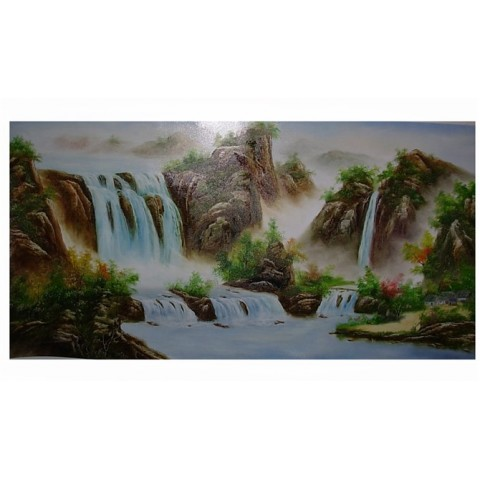"Landscape Hand-painted Oil Painting with Stretched Frame - 20"" x 40"""