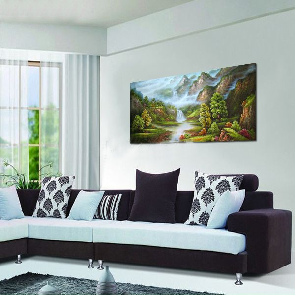 Hand-painted Landscape Oil Painting with Stretched Frame - 40\