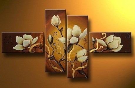 /310-370/hand-painted-flower-oil-painting-with-stretched-frame-set-of-4.jpg