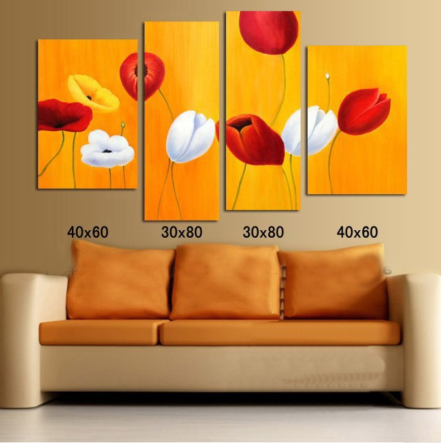 /313-373/hand-painted-flower-oil-painting-with-stretched-frame-set-of-4.jpg