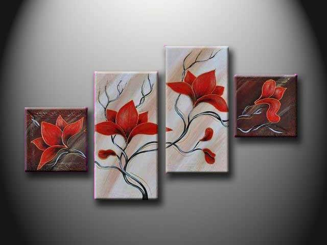 /316-376/hand-painted-flower-oil-painting-with-stretched-frame-set-of-4.jpg