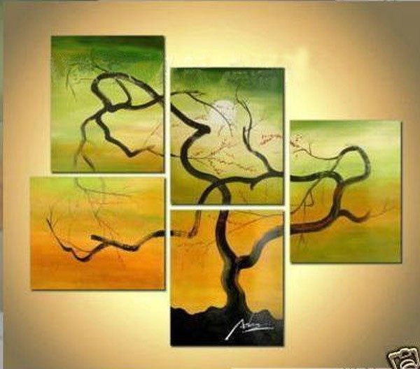/325-385/abstract-hand-painted-oil-painting-with-stretched-frame-set-of-5.jpg