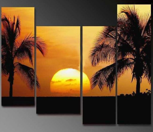 /344-408/hand-painted-sunset-oil-painting-with-stretched-frame-set-of-4.jpg