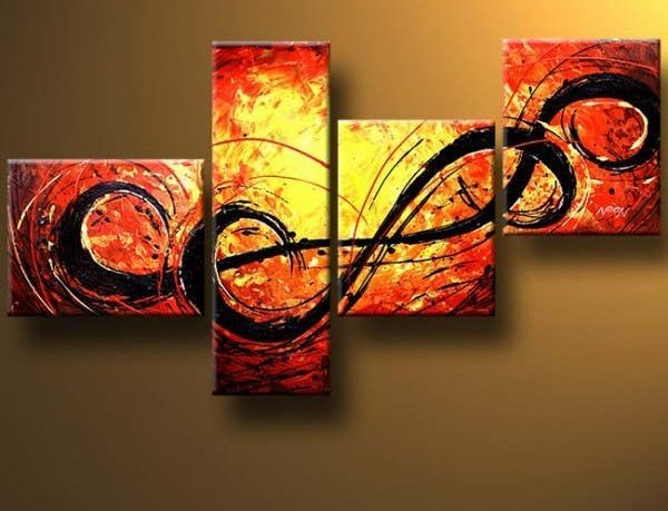 /364-430/abstract-hand-painted-oil-painting-with-stretched-frame-set-of-4.jpg