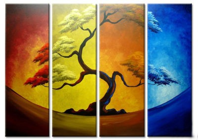 /368-434/hand-painted-tree-oil-painting-with-stretched-frame-set-of-4.jpg