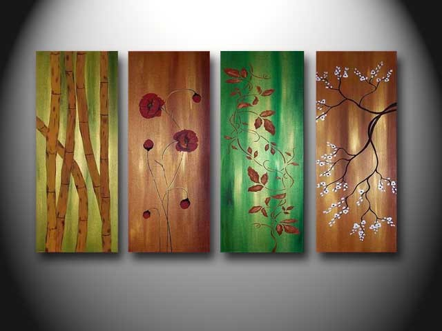 /371-437/hand-painted-flower-oil-painting-with-stretched-frame-set-of-4.jpg
