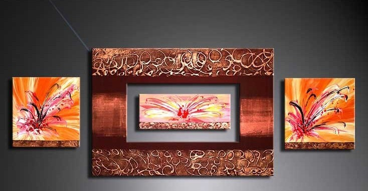 /377-443/hand-painted-flower-oil-painting-with-stretched-frame-set-of-4.jpg