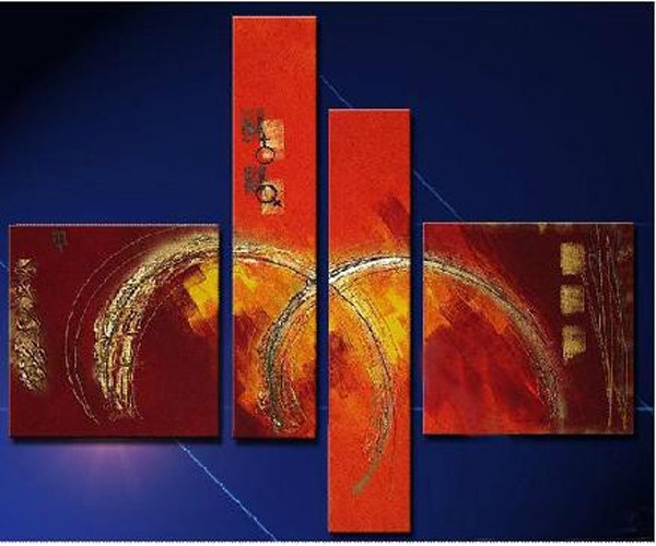 /379-445/abstract-hand-painted-oil-painting-with-stretched-frame-set-of-4.jpg