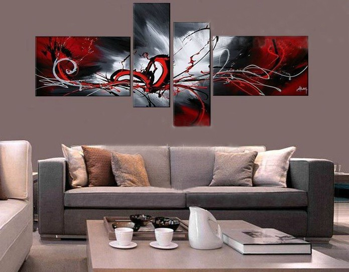 /387-454/abstract-hand-painted-oil-painting-with-stretched-frame-set-of-4.jpg