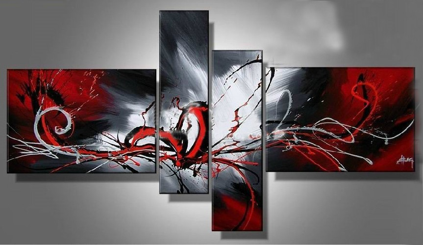 /387-455/abstract-hand-painted-oil-painting-with-stretched-frame-set-of-4.jpg