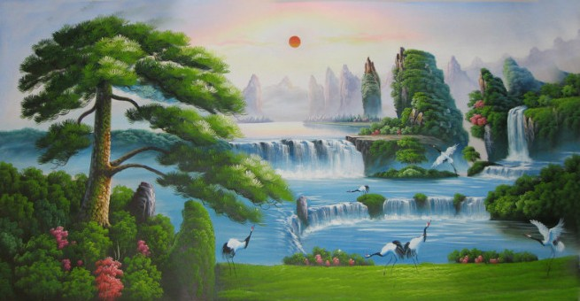 /4-4/hand-painted-landscape-oil-painting-with-stretched-frame.jpg