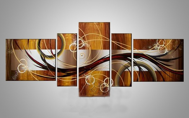 /464-554/abstract-hand-painted-oil-painting-with-stretched-frame-set-of-5.jpg