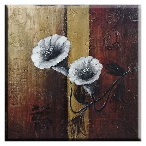 "Flower Hand-painted Oil Painting with Stretched Frame - 20"" x 24"""