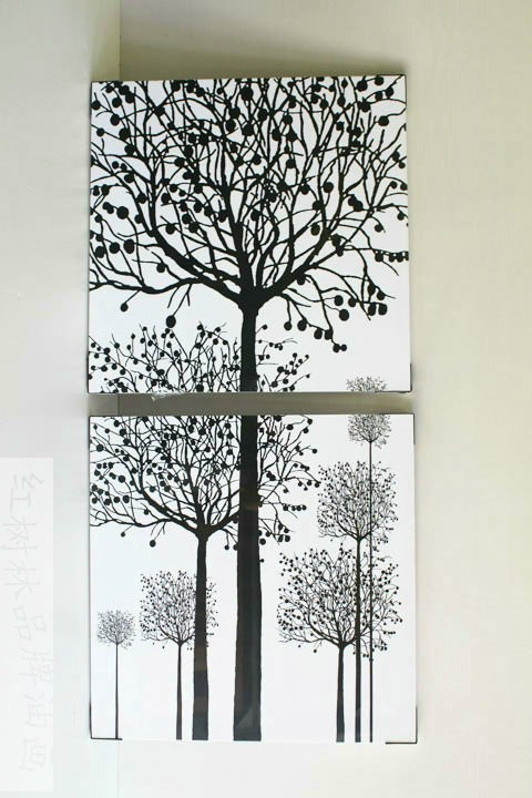 /492-588/hand-painted-tree-oil-painting-with-stretched-frame-set-of-2.jpg