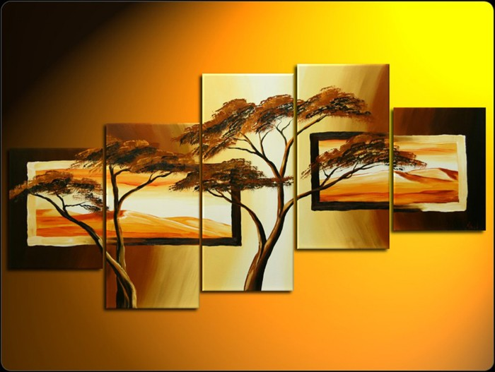 /496-593/hand-painted-tree-oil-painting-with-stretched-frame-set-of-5.jpg