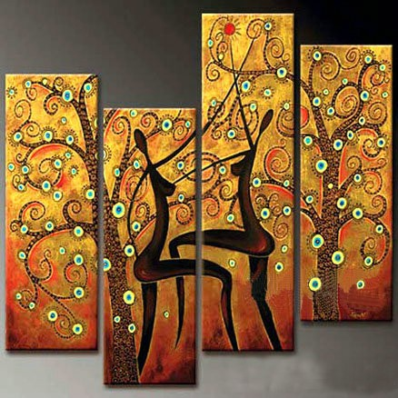 /498-596/abstract-hand-painted-oil-painting-with-stretched-frame-set-of-4.jpg