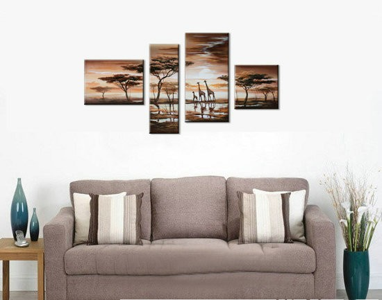 /500-600/hand-painted-landscape-oil-painting-with-stretched-frame-set-of-4.jpg