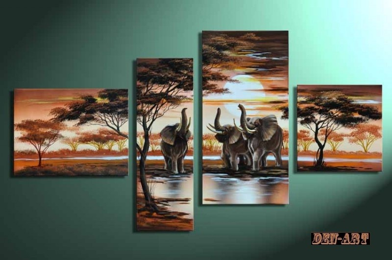 /507-614/hand-painted-african-landscape-oil-painting-with-stretched-frame-set-of-4.jpg