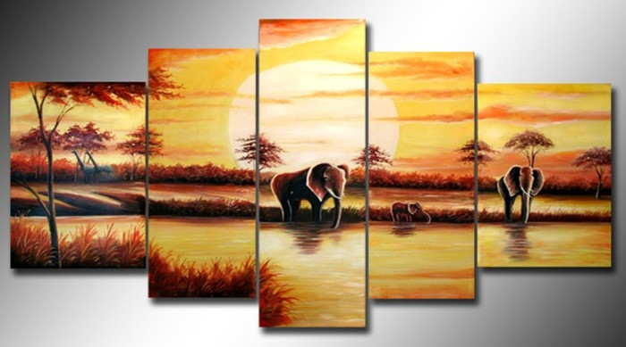 /522-634/arican-landscape-hand-painted-oil-painting-with-stretched-frame-set-of-5.jpg