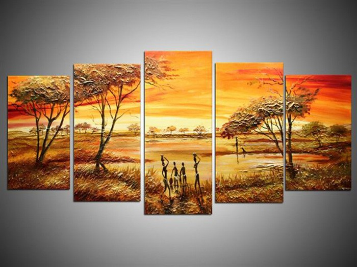 /523-635/hand-painted-arican-landscape-oil-painting-with-stretched-frame-set-of-5.jpg