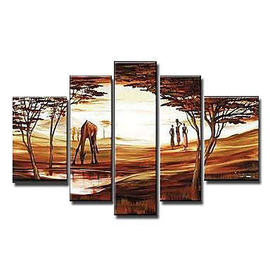 /524-636/hand-painted-arican-landscape-oil-painting-with-stretched-frame-set-of-5.jpg