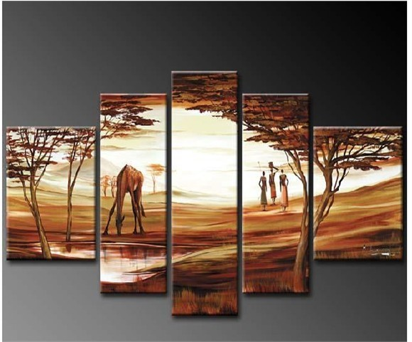 /524-637/hand-painted-arican-landscape-oil-painting-with-stretched-frame-set-of-5.jpg