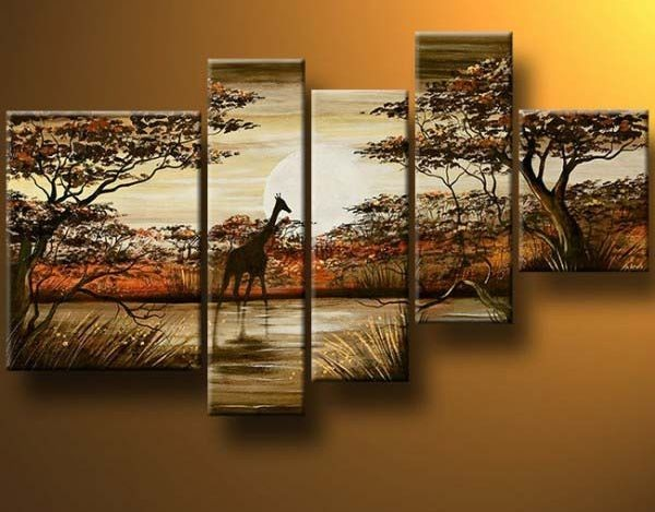 /526-639/hand-painted-arican-landscape-oil-painting-with-stretched-frame-set-of-5.jpg