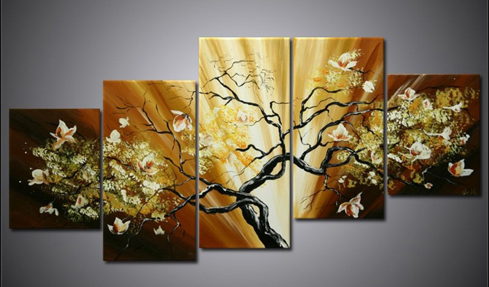 /536-650/hand-painted-tree-oil-painting-with-stretched-frame-set-of-5.jpg