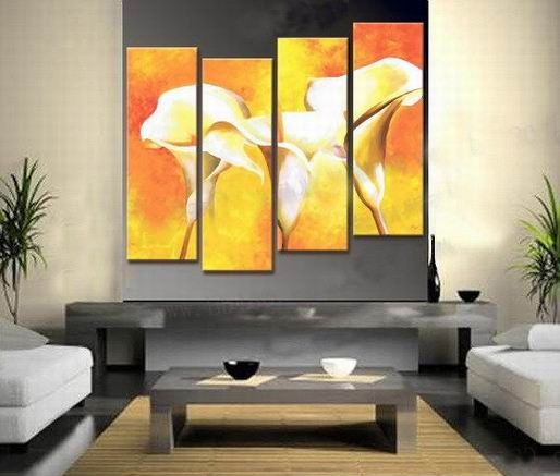 /543-658/flower-hand-painted-oil-painting-with-stretched-frame-set-of-4.jpg