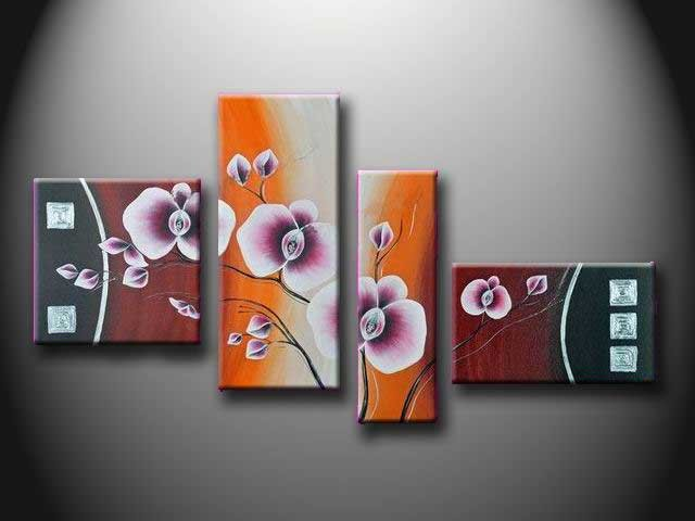 /546-663/flower-hand-painted-oil-painting-with-stretched-frame-set-of-4.jpg