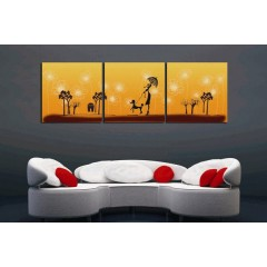 Printed Canvas Art with Stretched Frame - set of 3