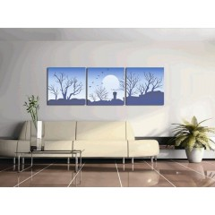 Printed Landscape Canvas Art with Stretched Frame - set of 3