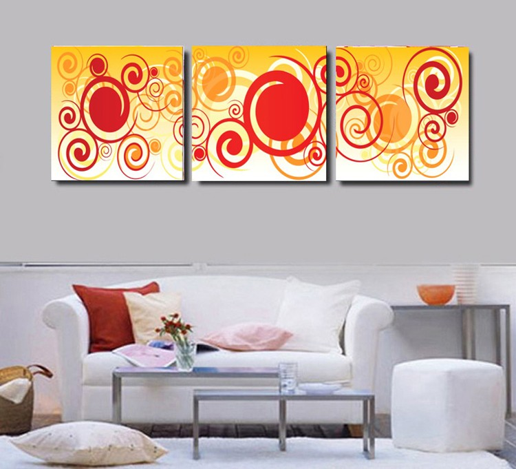 Printed Abstract Canvas Art With Stretched Frame