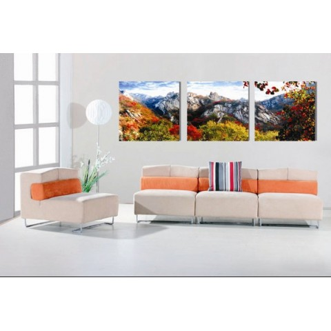 Landscape Printed Canvas Art with Stretched Frame - set of 3